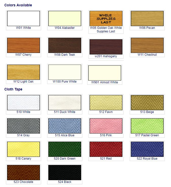 Wood color choices