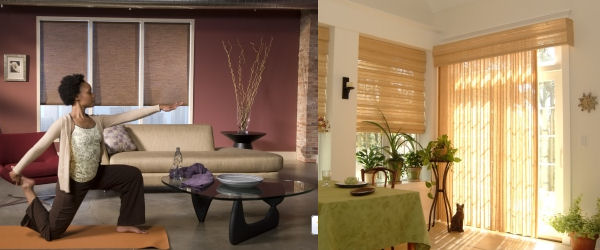 covershot of wood blinds in a beautiful setting