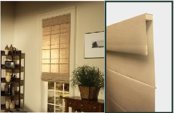 photograph of Roman Fold Roller style by Horizons Shades of Elegance