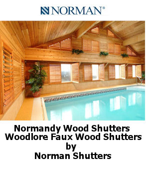 Norman Shutters available in wood and faux wood click to view
