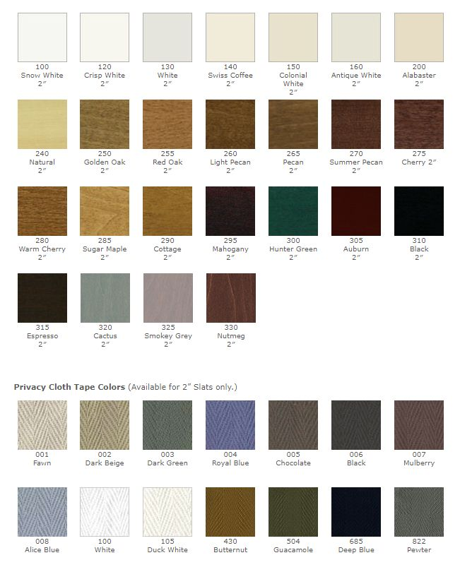 View All Patrician Wood Colors