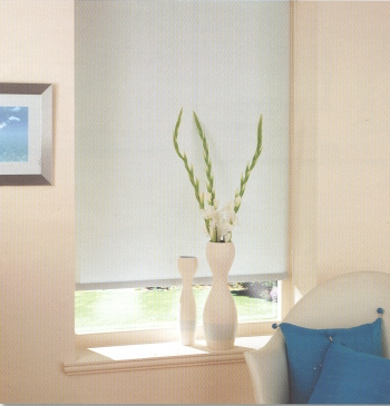 photograph of roller shades in a relaxed setting