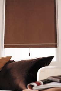 roller shade in dakota fabric