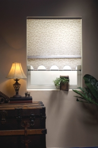 roller shades in ROSA fabric