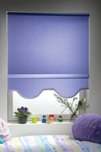 roller shades in Newport fabric