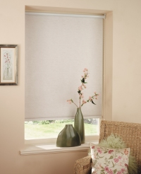 roller shades in a blackout fabric