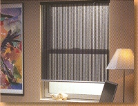 photo of roller shades in a relaxed setting