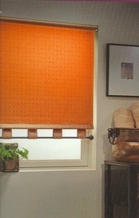 Roller Shades in a contemporary fabric